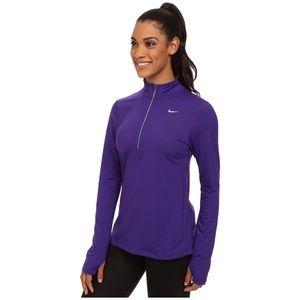 Nike Dri-Fit Purple Quarter Zip Pullover Size L